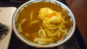カレーうどん(並)半熟たまご天、鮭・こんぶおむすび-丸亀製麺多治見店2