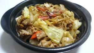肉野菜炒め弁当ご飯大盛り+特製豚汁-ほっともっと土岐口店2