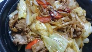 肉野菜炒め弁当ご飯大盛り+特製豚汁-ほっともっと土岐口店5