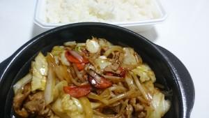 肉野菜炒め弁当ご飯大盛り+特製豚汁-ほっともっと土岐口店4