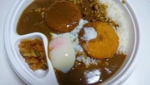クリームコロッケカレー(500g)+半熟タマゴ-カレーハウスCoCo壱番屋土岐インター店4