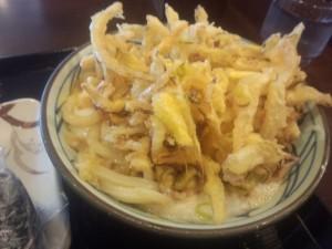 とろ玉うどん+野菜かき揚げ-丸亀製麺多治見店1