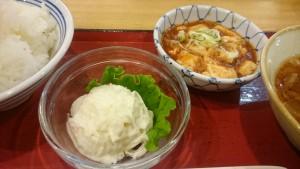 さんま・麻婆豆腐・ポテサラ・豚汁・ご飯大-瑞浪中央食堂3