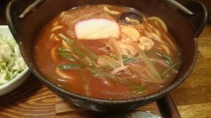 味噌煮込定食(ご飯大盛り)-ゆでたてうどん屏風山1