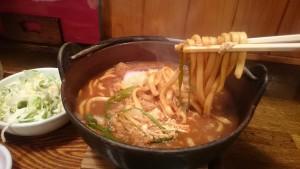 味噌煮込定食(ご飯大盛り)-ゆでたてうどん屏風山3