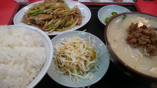 レバニラ炒め定食-味A土岐店1