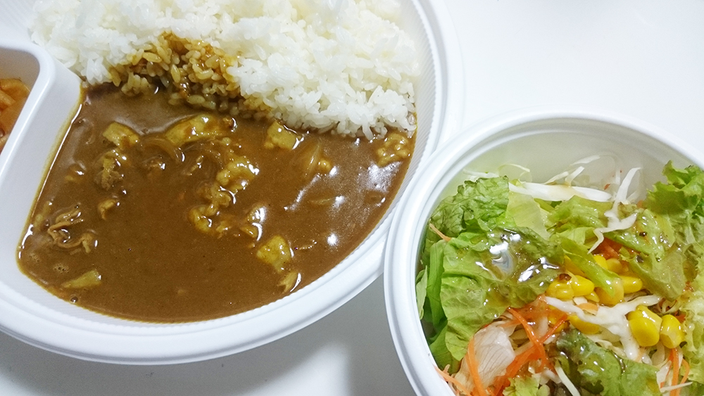 豚しゃぶカレー(400g)+野菜サラダ-カレーハウスCoCo壱番屋土岐インター店