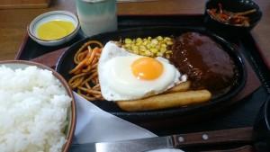 ハンバーグ定食-ひさ美1