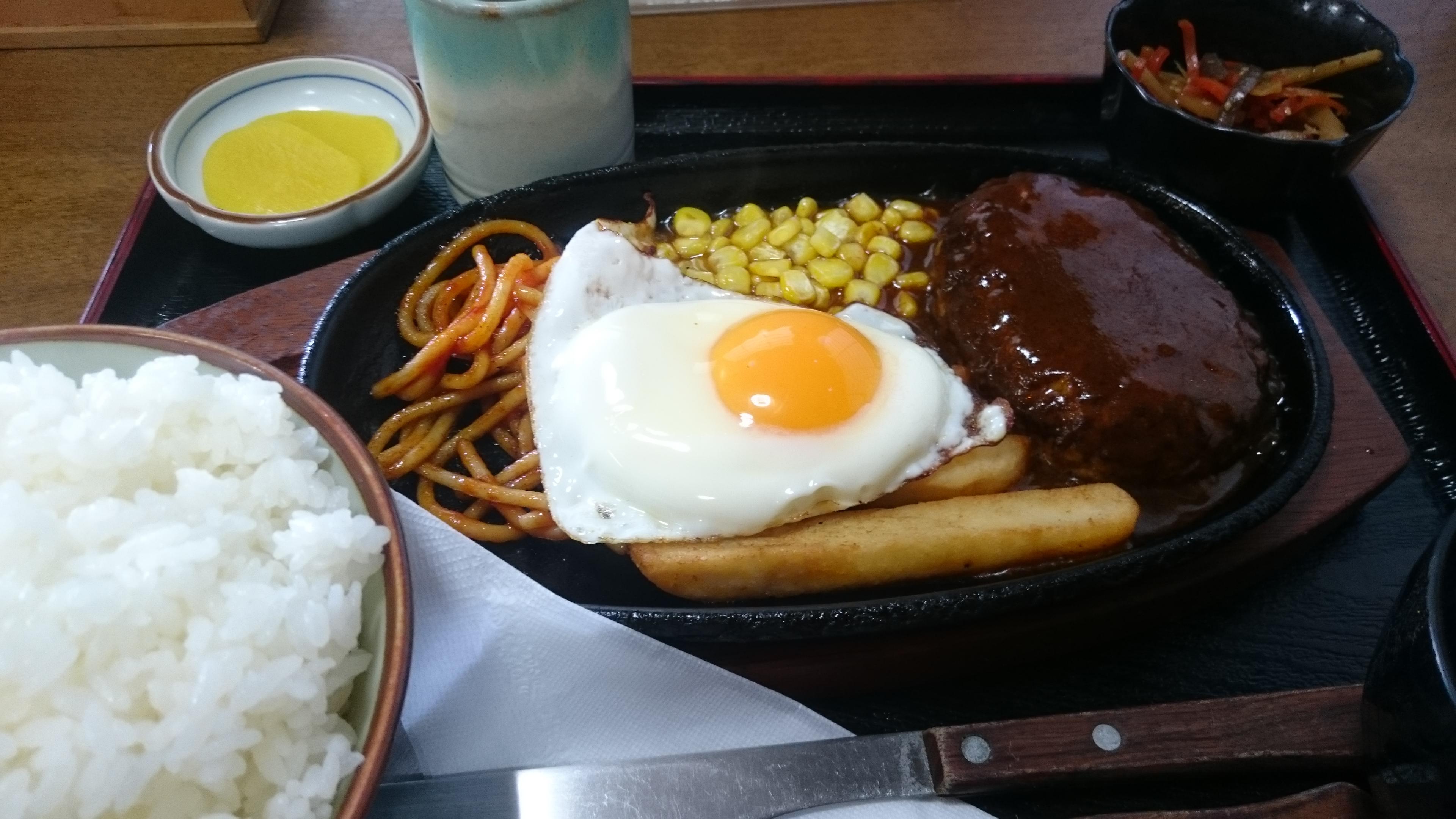 ハンバーグ定食-ひさ美