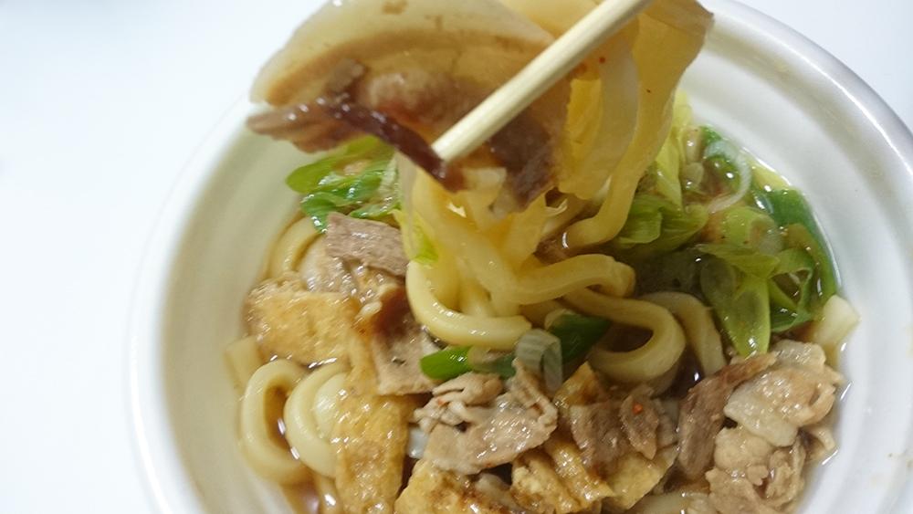 麺たっぷり!肉汁うどん【セブンイレブンのそば・うどん・中華麺シリーズ】