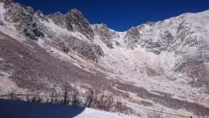 千畳敷カールの雪景色