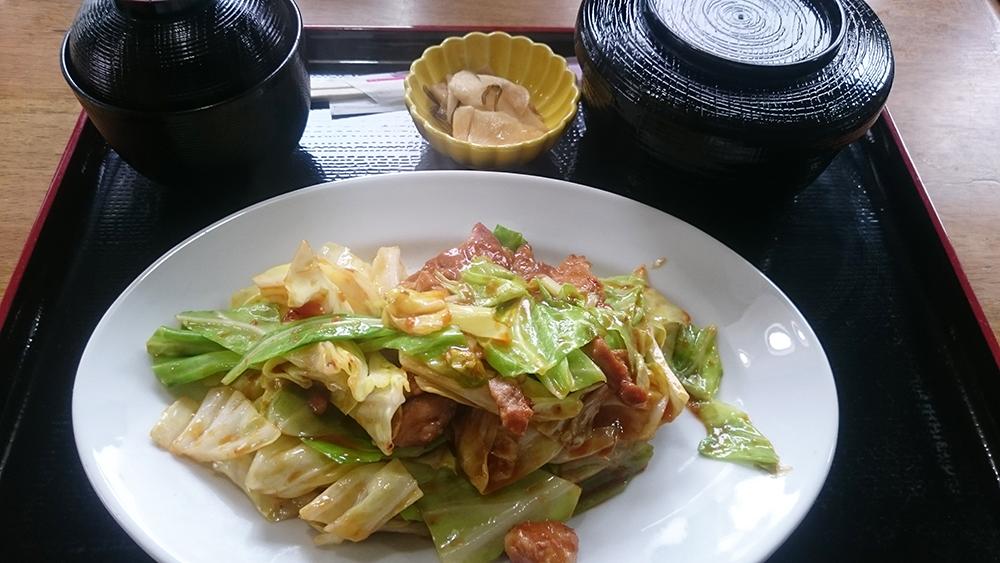 豚味噌炒め+定食-お食事処多久好