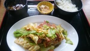 豚味噌炒め+定食-お食事処多久好1