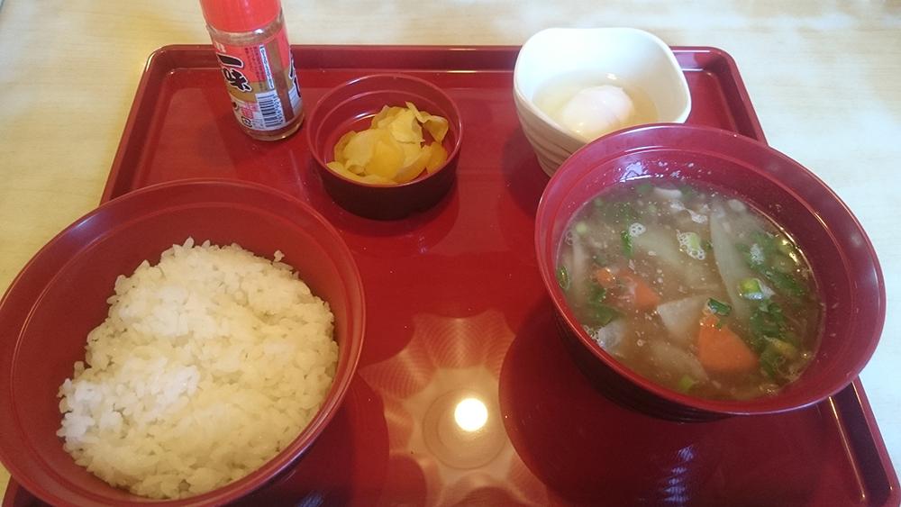 豚汁朝食-ジョイフル土岐肥田店