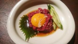 桜ユッケ-魂のホルモン五臓六腑可児総本店