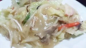 野菜炒め+醤油ラーメン+ライス2-お食事処多久好