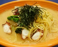 たこと明太子のスープスパゲティ―1-西洋料理オランジュ