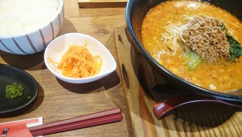 担担麺スープ茶漬けセット1-担々麺錦城春日井店
