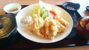 【大分名物】鶏天定食1-よりみち温泉レストラン