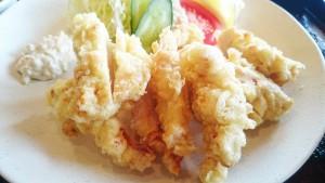 【大分名物】鶏天定食2-よりみち温泉レストラン