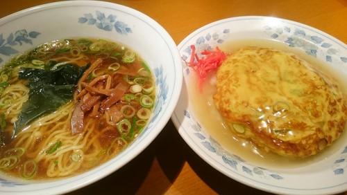 醤油ラーメン+天津飯1-楼蘭