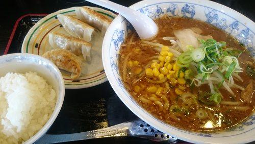 みそラーメンミニ餃子ランチ1-麺屋壱力小牧店
