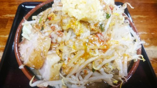 台湾惚郎(並)野菜増し・ニンニク増し・背脂多め1-めん家一麺惚