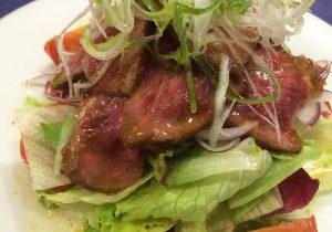 ローストビーフのサラダ2-西洋料理オランジュ