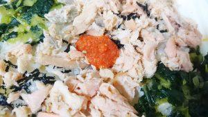 鮭と明太子ののっけ御飯3-セブンイレブン