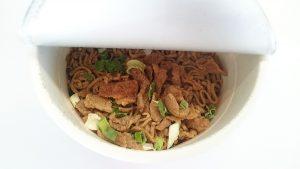狸穴(まみあな)監修ラー油肉蕎麦4
