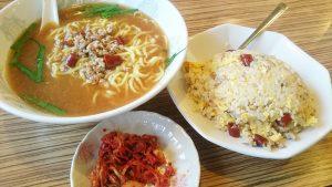 【ラーメンセット】台湾みそラーメン+台湾炒飯2-台湾料理阿福
