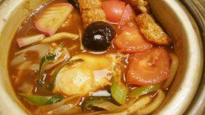 トマトみそ煮込定食2-和食麺処サガミ