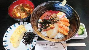 海鮮丼ランチ1-かに茶屋