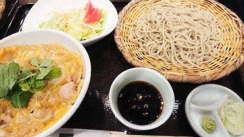 親子丼と蕎麦1-小松庵渋谷東急東横店