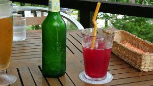 クランベリージュースとハートランドビール