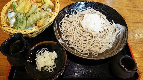 戸隠辛味おろしそば+夏野菜の天ぷら