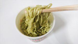カップヌードル抹茶「抹茶仕立てのシーフード味」6